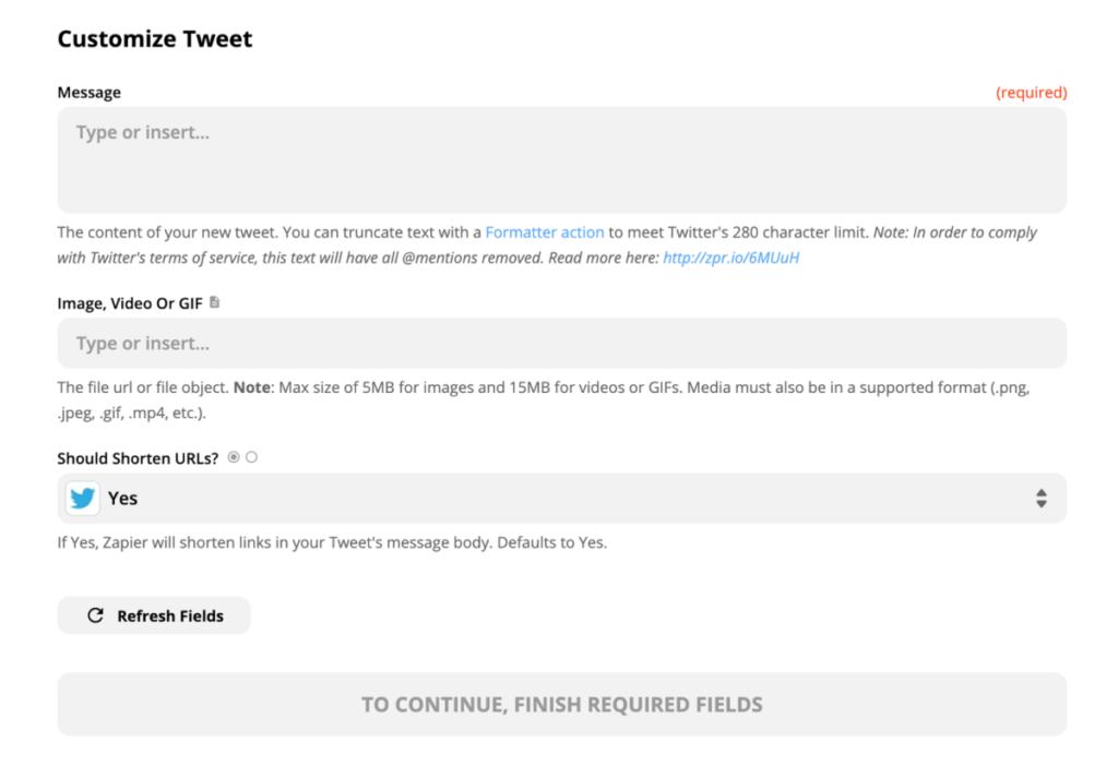 Twitter設定 /【 NoCode 】ノーコード「Zapier」を使ってブログSNS投稿を自動化!業務効率をアップ!