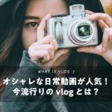 オシャレな日常動画が人気!今流行りの vlog とは?