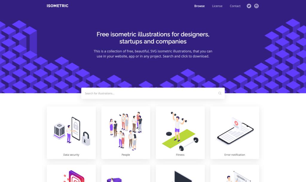 Isometric - 【無料】2021年!お洒落で使いやすいフリーイラストサイトまとめました!(商用利用可)
