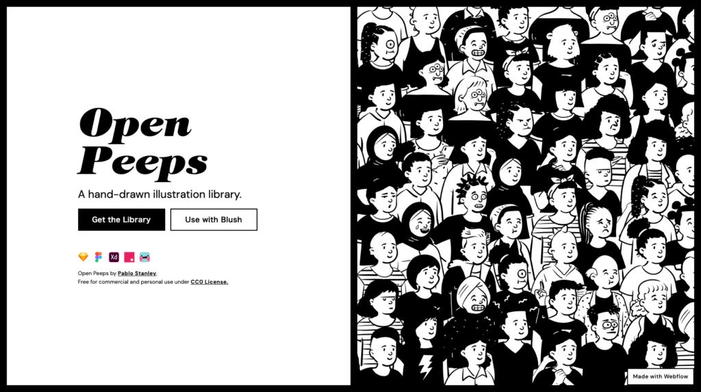 Open Peeps - 【無料】2021年!お洒落で使いやすいフリーイラストサイトまとめました!(商用利用可) - 【無料】2021年!お洒落で使いやすいフリーイラストサイトまとめました!(商用利用可)