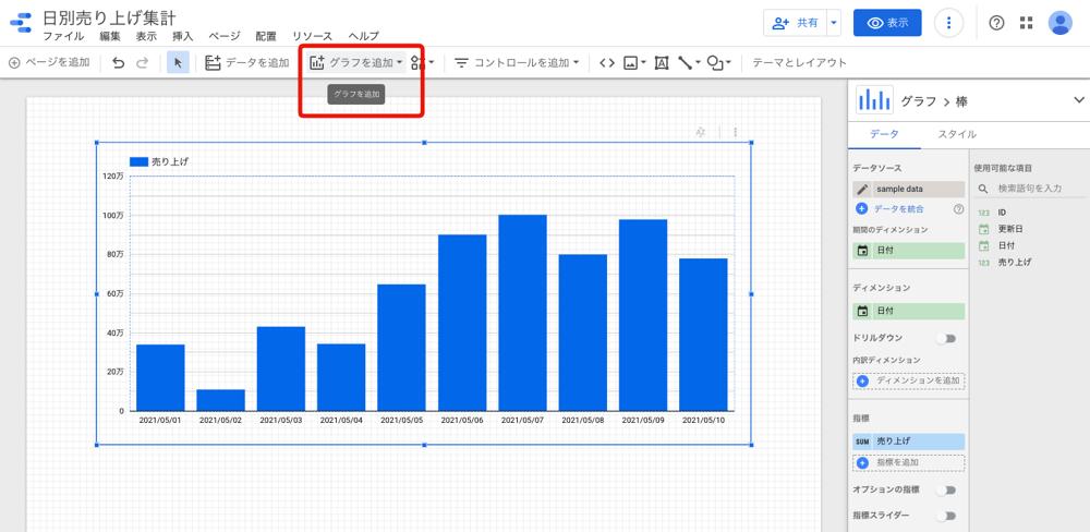 レポートの作成 / Metabaseと比較して、Google データポータルをデータ可視化ツールとして導入してみた!